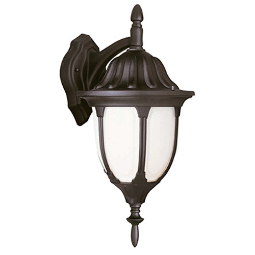 """Trans Globe Lighting 4048 WH 13"""" Outdoor White Traditional Wall Lantern(Shown in Black Finish)"""