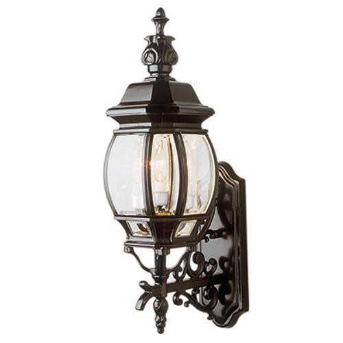 "Trans Globe Lighting 4051 RT 25"" Outdoor Rust Tuscan Wall Lantern (Shown in Black Finish)"