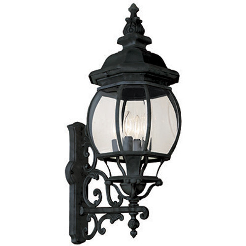 "Trans Globe Lighting 4052 BG 32"" Outdoor Black Gold Tuscan Wall Lantern(Shown in Black Finish)"