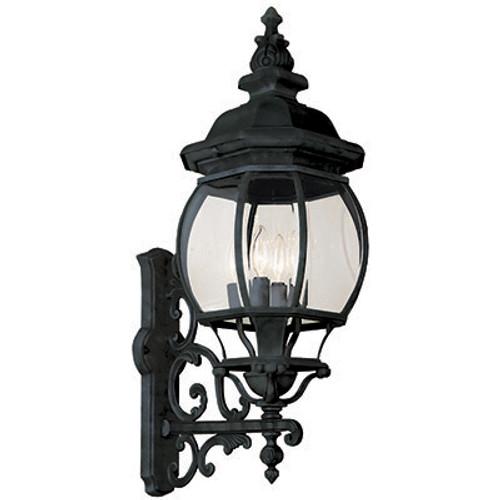 "Trans Globe Lighting 4052 RT 32"" Outdoor Rust Tuscan Wall Lantern(Shown in Black Finish)"