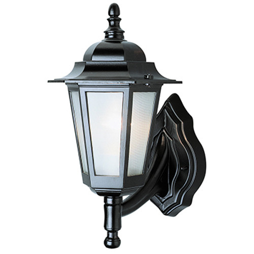 """Trans Globe Lighting 4055 BC 14.5"""" Outdoor Black Copper Traditional Wall Lantern(Shown in Black Finish)"""
