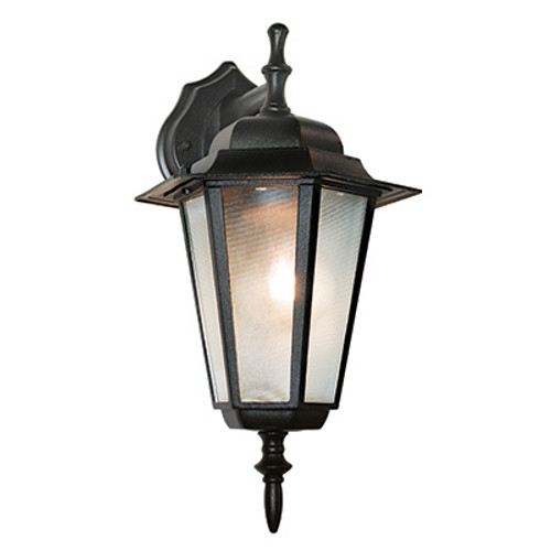 """Trans Globe Lighting 4056 WH 14.5"""" Outdoor White Traditional Wall Lantern(Shown in Black Finish)"""