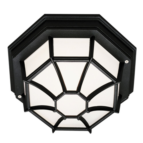 "Trans Globe Lighting 40581 BG 4"" Outdoor Black Gold Rustic Flushmount Lantern(Shown in Black Finish)"