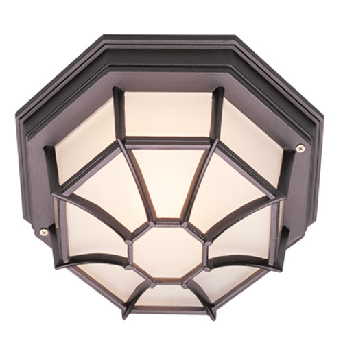 "Trans Globe Lighting 40582 SWI 5"" Outdoor Swedish Iron Rustic Flushmount Lantern(Shown in Black Finish)"