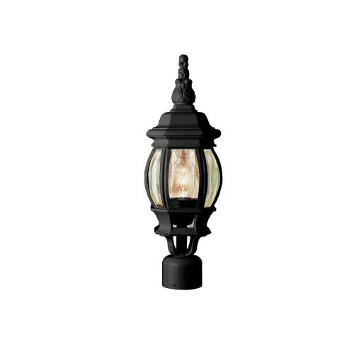"Trans Globe Lighting 4060 BK 19.5"" Outdoor Black Traditional Postmount Lantern(Shown in Black Finish)"