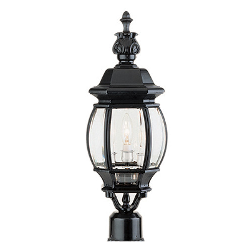"Trans Globe Lighting 4061 SWI 22"" Outdoor Swedish Iron Traditional Postmount Lantern(Shown in Black Finish)"
