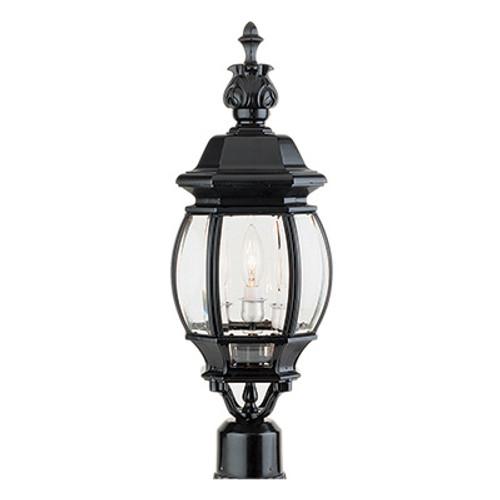 "Trans Globe Lighting 4061 WH 22"" Outdoor White Traditional Postmount Lantern(Shown in Black Finish)"