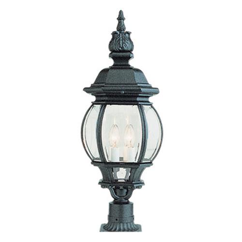 "Trans Globe Lighting 4062 BG 28"" Outdoor Black Gold Traditional Postmount Lantern(Shown in Black Finish)"
