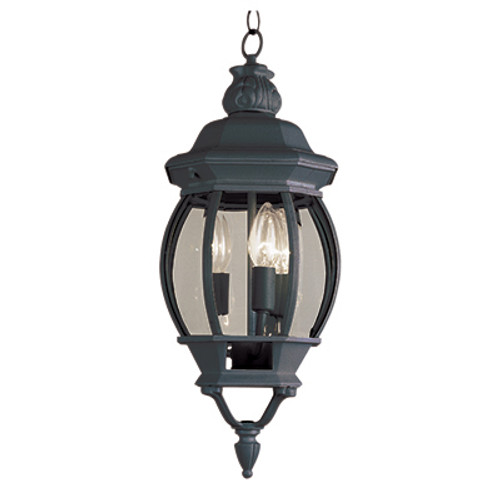 """Trans Globe Lighting 4066 BC 25"""" Outdoor Black Copper Traditional Hanging Lantern(Shown in Black Finish)"""