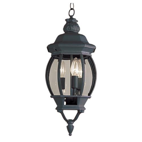 "Trans Globe Lighting 4066 RT 25"" Outdoor Rust  Traditional Hanging Lantern(Shown in Black Finish)"