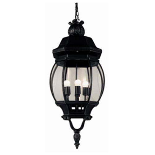"Trans Globe Lighting 4067 SWI 32"" Outdoor Swedish Iron Traditional Hanging Lantern(Shown in Black Finish)"