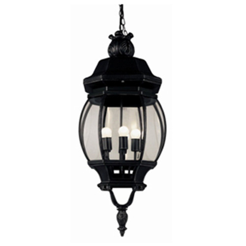 """Trans Globe Lighting 4067 WH 32"""" Outdoor White Traditional Hanging Lantern(Shown in Black Finish)"""