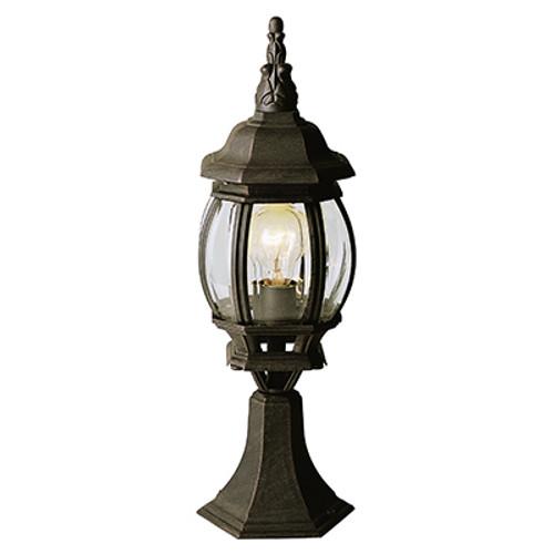 "Trans Globe Lighting 4070 BK 20.5"" Outdoor Black Tuscan Postmount Lantern(Shown in BC Finish)"