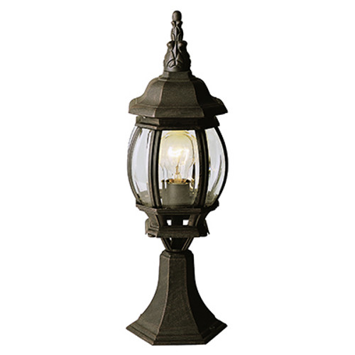 "Trans Globe Lighting 4070 WH 20.5"" Outdoor White Tuscan Postmount Lantern(Shown in BC Finish)"