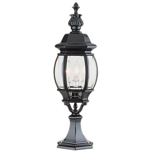 "Trans Globe Lighting 4071 BG 23"" Outdoor Black Gold Tuscan Postmount Lantern(Shown in Black Finish)"
