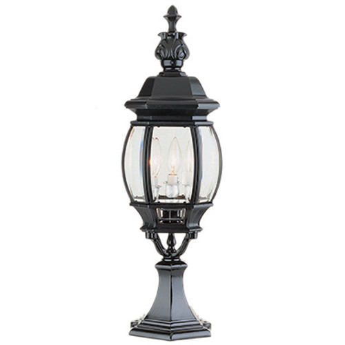 "Trans Globe Lighting 4071 WH 23"" Outdoor White Tuscan Postmount Lantern(Shown in Black Finish)"