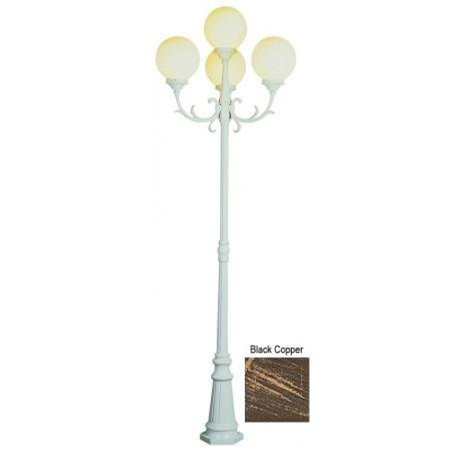 """Trans Globe Lighting 4080 BC 89"""" Outdoor Black Copper French Country Pole Light(Shown in White Finish )"""