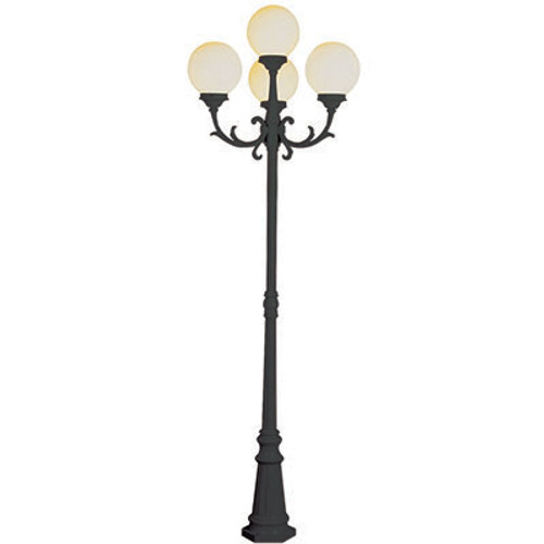 "Trans Globe Lighting 4080 BG 89"" Outdoor Black Gold French Country Pole Light(Shown in Black Finish)"