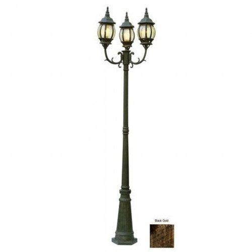 "Trans Globe Lighting 4090 BG 91.5"" Outdoor Black Gold French Country Pole Light"