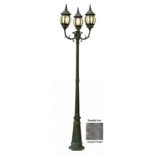"Trans Globe Lighting 4090 SWI 91.5"" Outdoor Swedish Iron French Country Pole Light"