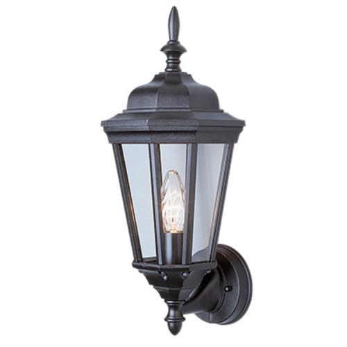 "Trans Globe Lighting 4095 BG 17.25"" Outdoor Black Gold Traditional Wall Lantern(Shown in Black Finish)"