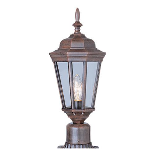 "Trans Globe Lighting 4096 BK 20.75"" Outdoor Black Traditional Postmount Lantern(Shown in Rust Finish)"