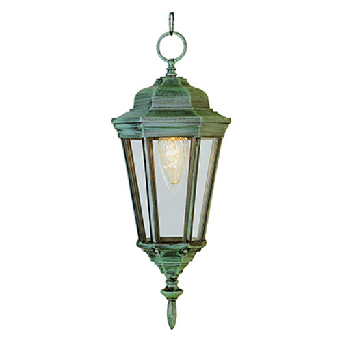 "Trans Globe Lighting 4097 BG 17.25"" Outdoor Black Gold Traditional Hanging Lantern(Shown in VG Finish)"