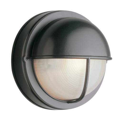 """Trans Globe Lighting 4120 WH 8"""" Outdoor White Traditional Bulkhead(Shown in Black Finish)"""