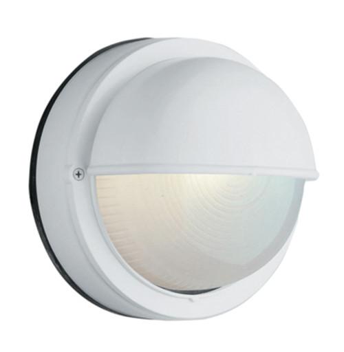 "Trans Globe Lighting 4121 BK 8"" Outdoor Black Traditional Bulkhead(Shown in White Finish)"