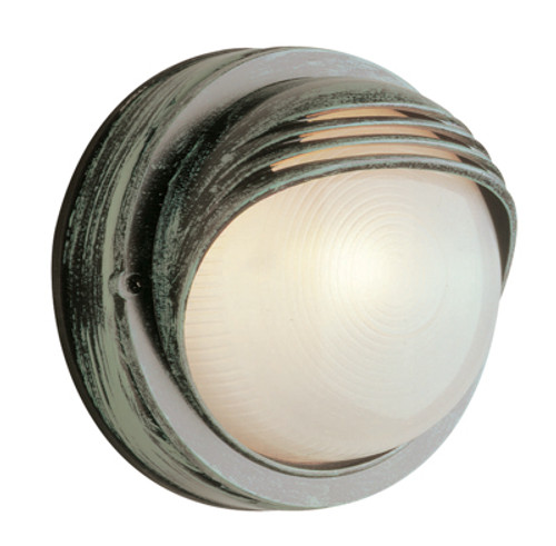 """Trans Globe Lighting 4122 WH 8"""" Outdoor White Traditional Bulkhead(Shown in VG Finish)"""