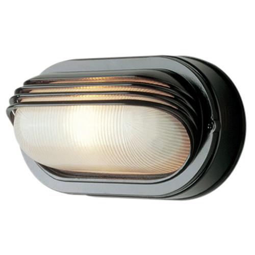 "Trans Globe Lighting 4123 RT 8.5"" Outdoor Rust  Traditional Bulkhead(Shown in Black Finish)"