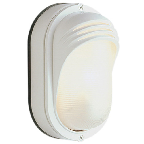 "Trans Globe Lighting 4124 RT 8.5"" Outdoor Rust  Traditional Bulkhead(Shown in White Finish)"