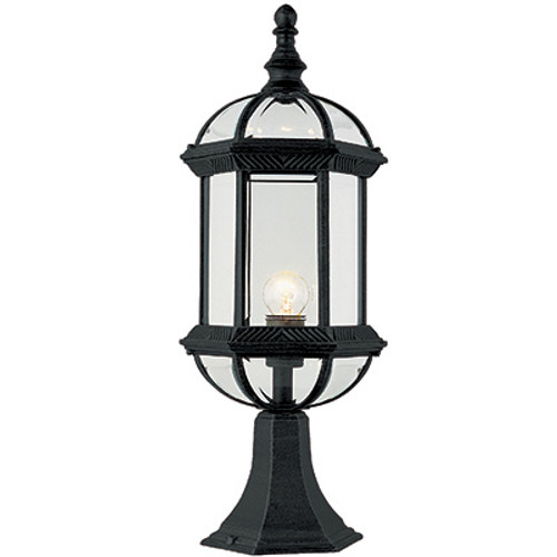 "Trans Globe Lighting 4182 BG 21"" Outdoor Black Gold Traditional Postmount Lantern(Shown in Black Finish)"