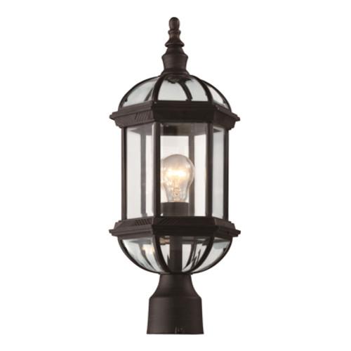 "Trans Globe Lighting 4186 BK 19.75"" Outdoor Black Traditional Postmount Lantern(Shown in Rust Finish)"