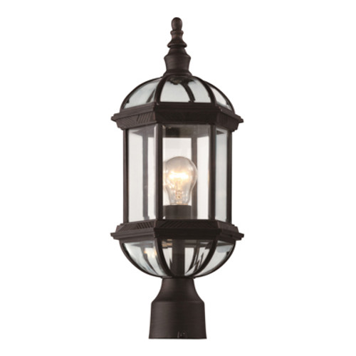 """Trans Globe Lighting 4186 WH 19.75"""" Outdoor White Traditional Postmount Lantern(Shown in Rust Finish)"""