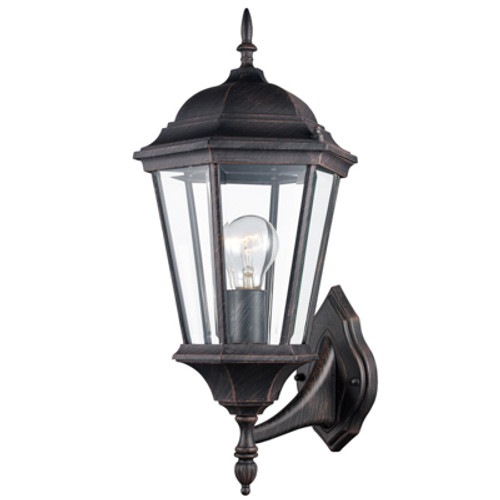 """Trans Globe Lighting 4250 BC 23"""" Outdoor Black Copper Traditional Wall Lantern(Shown in Rust Finish)"""