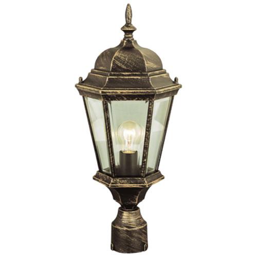 "Trans Globe Lighting 4260 BK 22"" Outdoor Black Traditional Postmount Lantern(Shown in Black Copper Finish)"