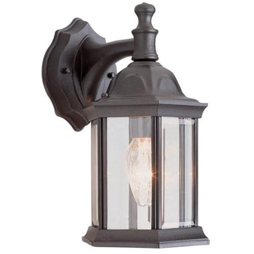 "Trans Globe Lighting 4349 BG 12.5"" Outdoor Black Gold Traditional Wall Lantern(Shown in BK )"
