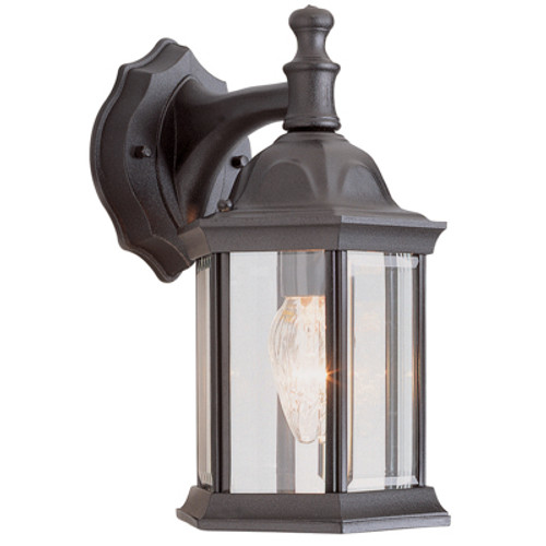 "Trans Globe Lighting 4349 SWI 12.5"" Outdoor Swedish Iron Traditional Wall Lantern(Shown in BK)"