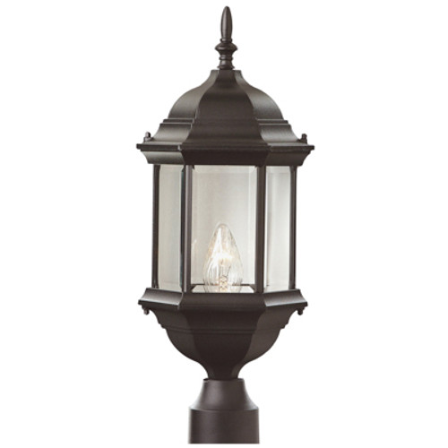 "Trans Globe Lighting 4352 RT 23"" Outdoor Rust Colonial  Postmount Lantern(Shown in BK Finish)"