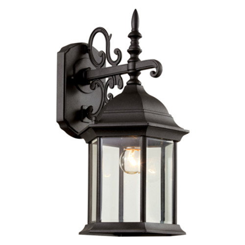 "Trans Globe Lighting 4353 BG 14.5"" Outdoor Black Gold Colonial  Wall Lantern(Shown in Black Finish)"