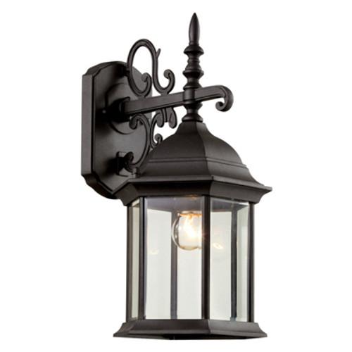 "Trans Globe Lighting 4353 SWI 14.5"" Outdoor Swedish Iron Colonial  Wall Lantern(Shown in Black Finish)"