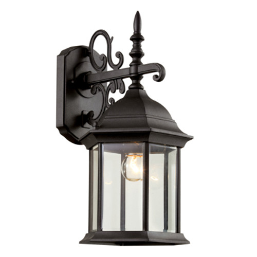 """Trans Globe Lighting 4354 BC 19"""" Outdoor Black Copper Colonial  Wall Lantern(Shown in Black Finish)"""