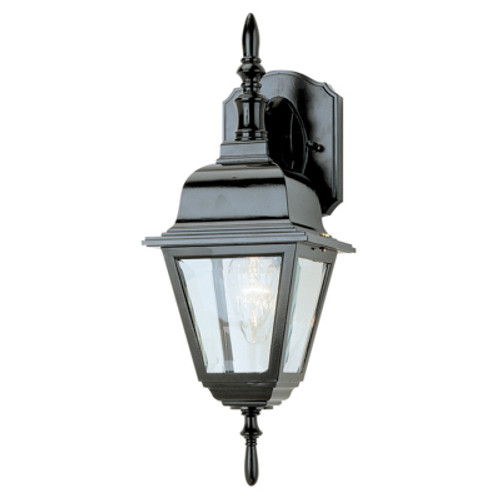 """Trans Globe Lighting 4411 BC 16.75"""" Outdoor Black Copper Colonial  Wall Lantern(Shown in Black Finish)"""