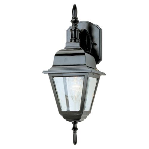 "Trans Globe Lighting 4411 BG 16.75"" Outdoor Black Gold Colonial  Wall Lantern(Shown in Black Finish)"