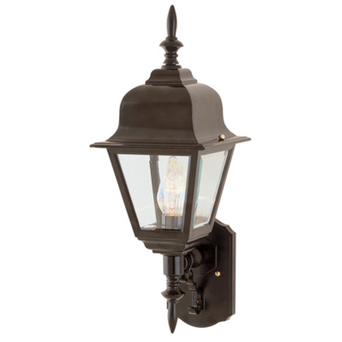 "Trans Globe Lighting 4412 RT 16.75"" Outdoor Rust Colonial  Wall Lantern(Shown in Black Finish)"