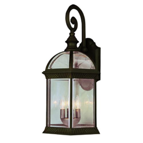 "Trans Globe Lighting 44181 BK 19"" Outdoor Black Traditional Wall Lantern(Shown in Rust Finish)"