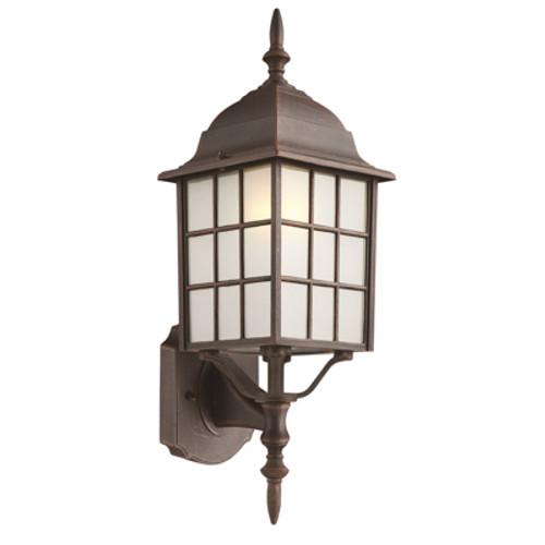 "Trans Globe Lighting 4420 BG 19.5"" Outdoor Black Gold Mission/Craftsman Wall Lantern(Shown in Rust Finish)"