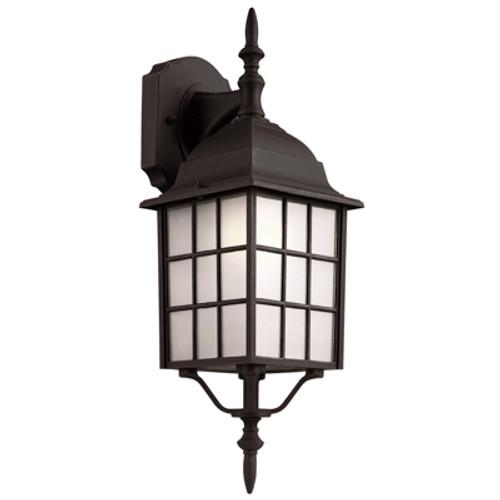 "Trans Globe Lighting 4420-1 BG 19.5"" Outdoor Black Gold Mission/Craftsman Wall Lantern(Shown in Black Finish)"