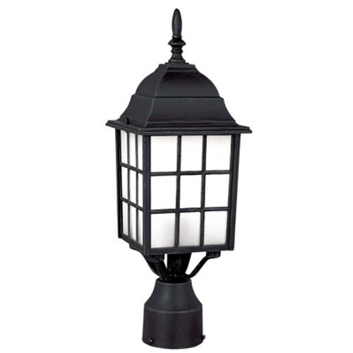 "Trans Globe Lighting 4421 BC 18.5"" Outdoor Black Copper Mission/Craftsman Postmount Lantern(Shown in Black Finish)"